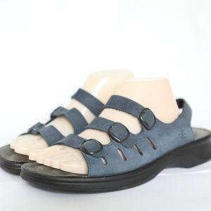 a3596b74c64b Clarks Shoes - Clarks Springers Sunbeat Blue Leather Sandals 11